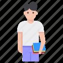 internee, pupil, schoolboy, student, undergraduate icon