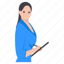 assistant, female employee, personal assistant, receptionist, secretary icon