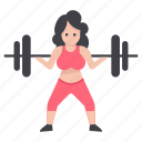 athlete, bodybuilder, fitness, powerlifting, weight lifting, workout icon