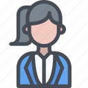 avatar, business, female, people, user, woman icon