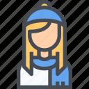 avatar, dress, female, people, user, winter, woman