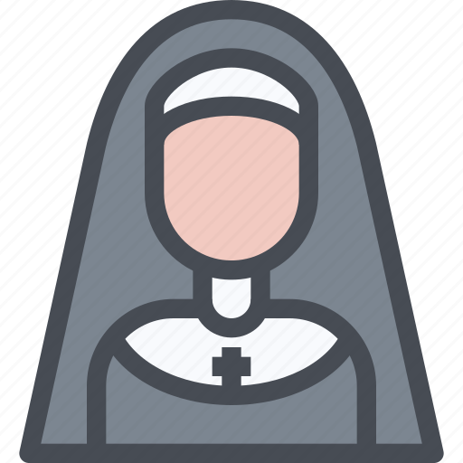 avatar, female, nun, people, sister, user, woman icon