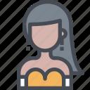 avatar, dress, evening, female, people, user, woman icon
