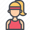 avatar, female, girl, people, sport, user, woman icon