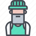 avatar, carpenter, construction, male, man, people, user icon
