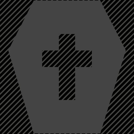 coffin, death, life icon