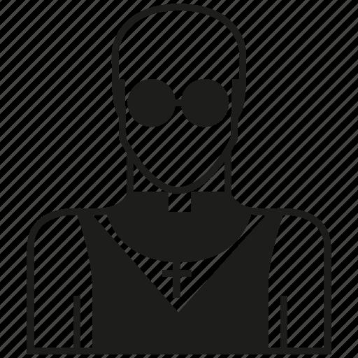 avatar, career, human, man, monk, people, priest icon
