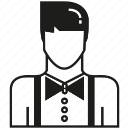 avatar, career, human, man, people, profession, waiter icon
