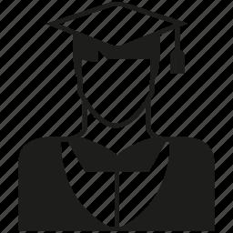 avatar, graduate, man, people, pundit, student icon