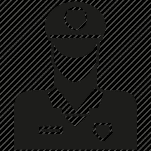 avatar, career, human, man, people, police icon