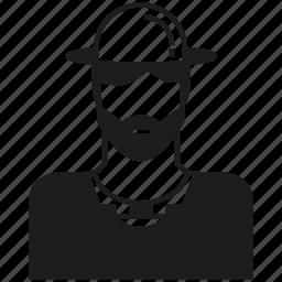 avatar, career, farmer, hat, human, man, people icon