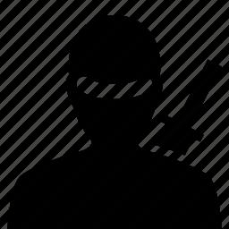 avatar, japanese, ninja, warrior icon