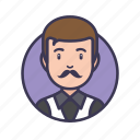 avatar, gangster, mafia, male, man, mustache, people icon