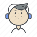 avatars, boy, child, male, man, music, people icon
