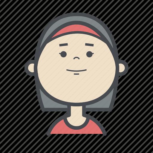 avatars, female, girl, people, sport, user, woman icon