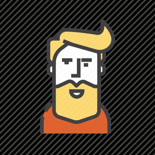 avatar, bird, hipster, man, user icon