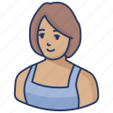 avatar, woman, house wife, house lady, working woman, girl, employ icon