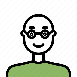 avatar, beard, glasses, male, man, outline icon