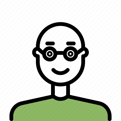 Avatar, beard, glasses, male, man, outline icon - Download on Iconfinder