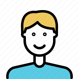 avatar, beard, male, man, outline icon
