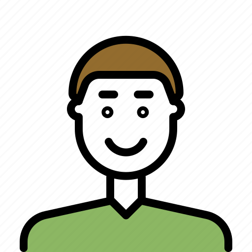 avatar, male, man, outline icon