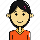 avatar, avatars, characters, cute, faces, girl, people icon