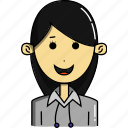 avatar, avatars, character, cute, faces, people, woman icon