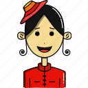 avatar, avatars, characters, cute, faces, people, woman icon