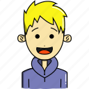 avatar, avatars, characters, cute, faces, man, people icon