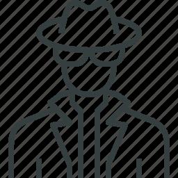 avatar, detective icon