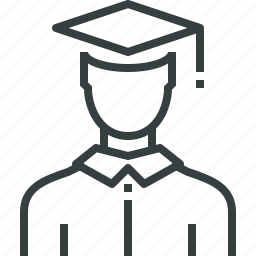 avatar, graduate, scholar icon