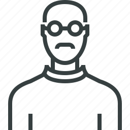 avatar, scientist icon