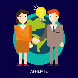 advertisement, affiliate, business, commercial, partnership, people icon