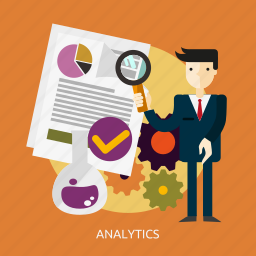 analytics, business, concept, information, innovation, media, people icon