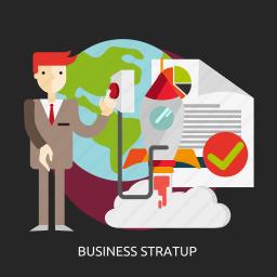 business, entrepreneur, innovation, people, start, startup icon