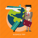 business, corporate, luggage, people, tourism, trip icon