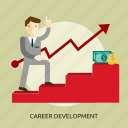 achievement, business, career, concept, development, job, people icon