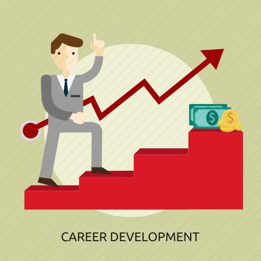 achievement, business, career, concept, development, job, people icon