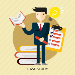 business, case, concept, knowledge, people, research, study icon