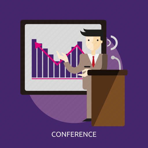 business, company, conference, office, people, presentation, room icon