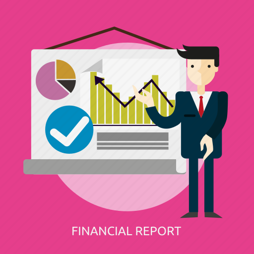 business, chart, diagram, finance, financial, people, report icon