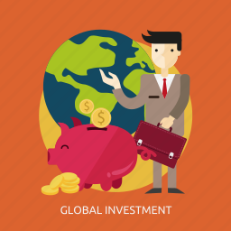 business, economy, finance, global, investment, market, people icon