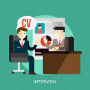 business, career, employment, interview, people, recruitment, work icon