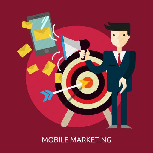business, communication, marketing, mobile, money, people, smartphone icon