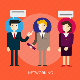 business, communication, computer, connection, internet, networking, people icon