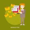 article, business, information, news, newsletter, people, web icon