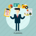 business, goal, idea, people, planning, strategic, success icon