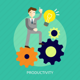business, efficiency, increase, output, people, productivity icon
