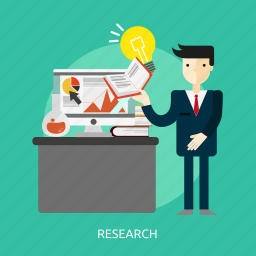 business, development, information, people, research, science, search icon