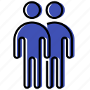 duet, human, man, people, person, team icon